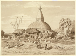 Buddhist Temple, called 'Kasha chait' or Temple of Kasha, at Buddhnath. March 1854